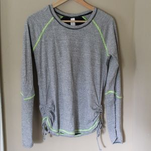 Lucy Tech Striped Long Sleeve Workout Top - M